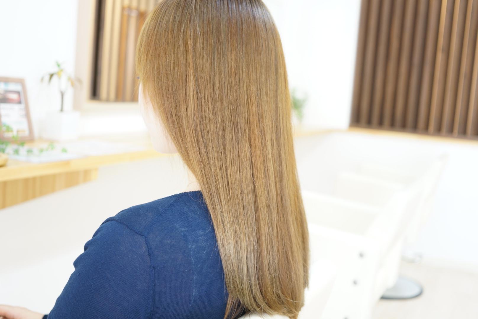 上田市の美容室エールのカット、カラー仕上がり