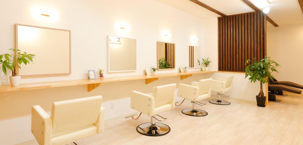 上田市の美容院AILE(エール)の内装