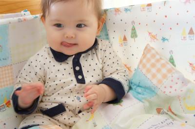 初めての断髪~赤ちゃん筆~