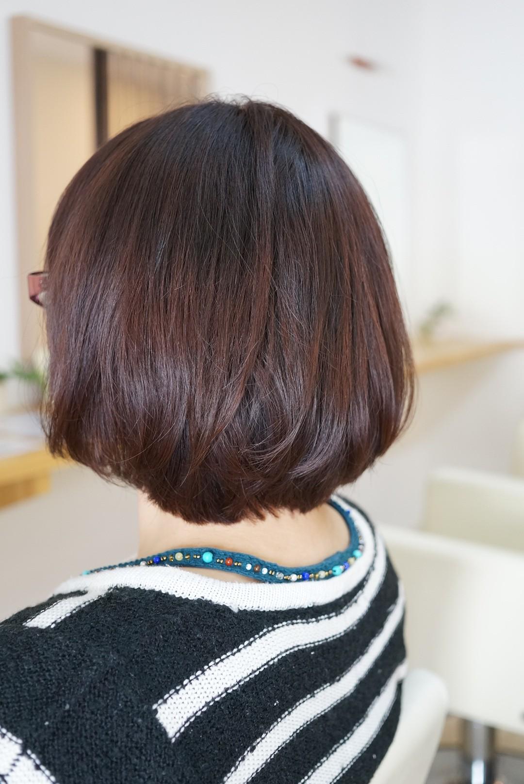 艶の出るヘアカラー【カッパーブラウン】仕上がり