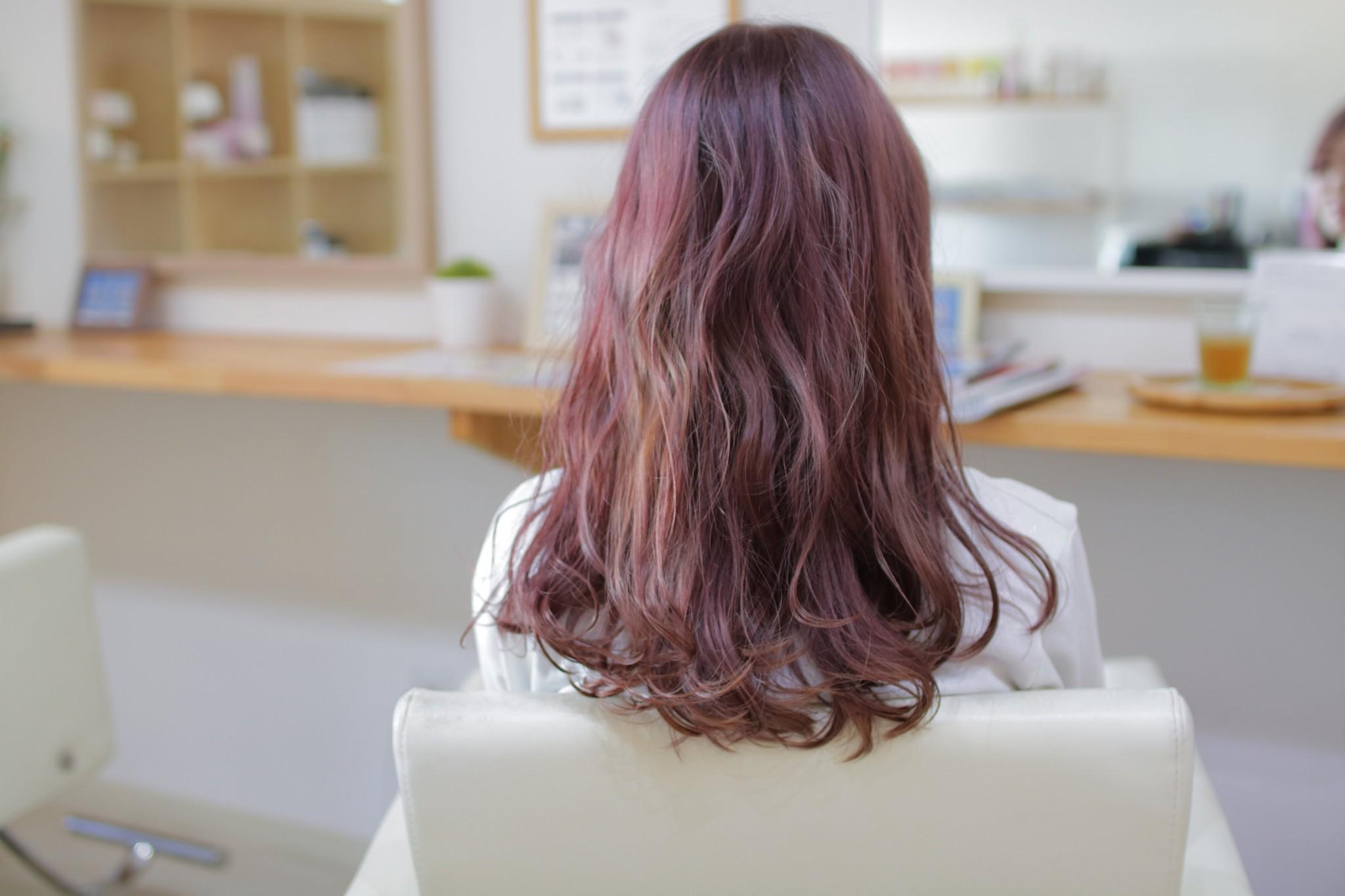 ピンク×アッシュ×バイオレット(外国人風カラー)